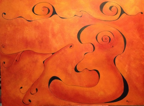 """The Long Road"" 36×48 unframed 2012 Parkinson's series Acrylic on panel 400.00 USD # LR1"