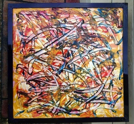Abstract in Oils in Private collection